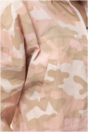 Camo Windbreaker Jacket pink detail MILK MONEY