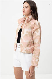 Camo Windbreaker Jacket pink side MILK MONEY