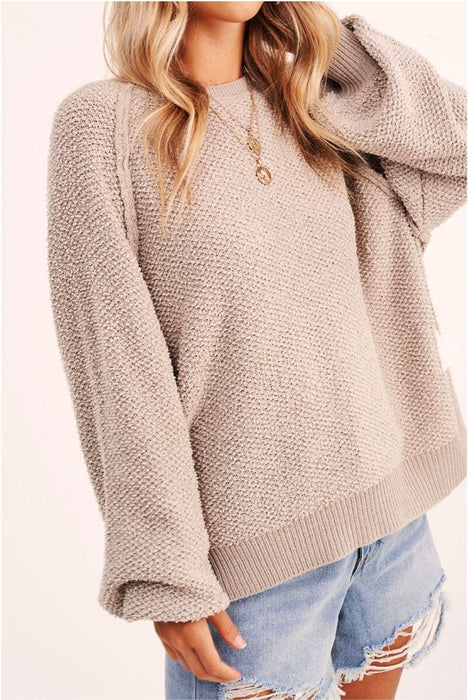 Carino Oversized Sleeve Sweater grey MILK MONEY