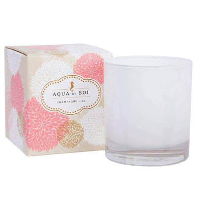 Champagne Lily Soy Wax Candle pink MILK MONEY