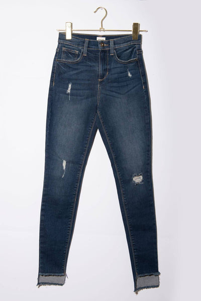 Chelsea High-Rise Jeans dark wash front MILK MONEY