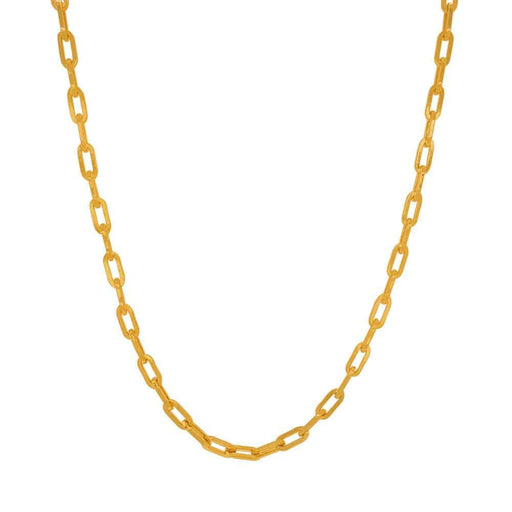 Chloe Gold Square Link Chain Necklace small MILK MONEY