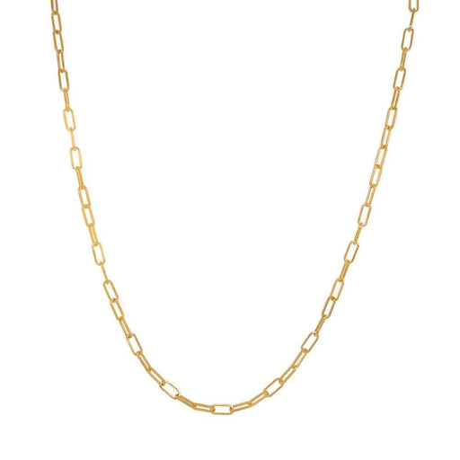 Chloe Gold Square Link Chain Necklace tiny MILK MONEY