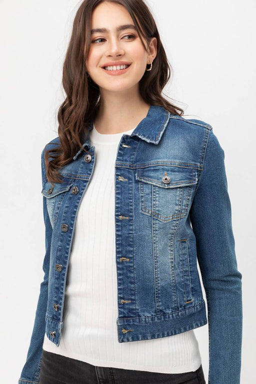 Classic Denim Jacket blue front MILK MONEY