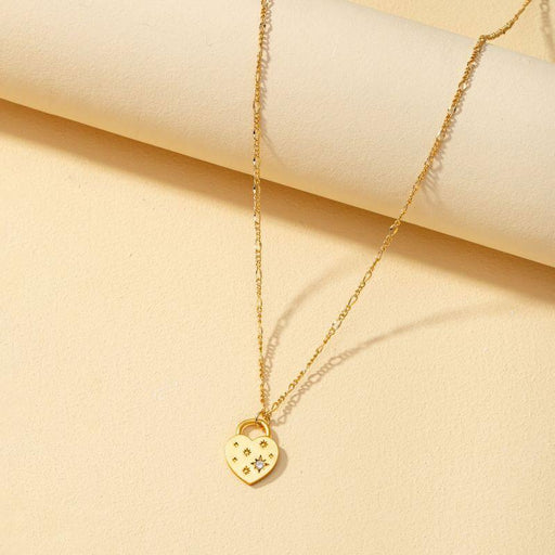 Classic Diamond Heart-Shaped Pendant Necklace gold | MILK MONEY | milkmoney.co