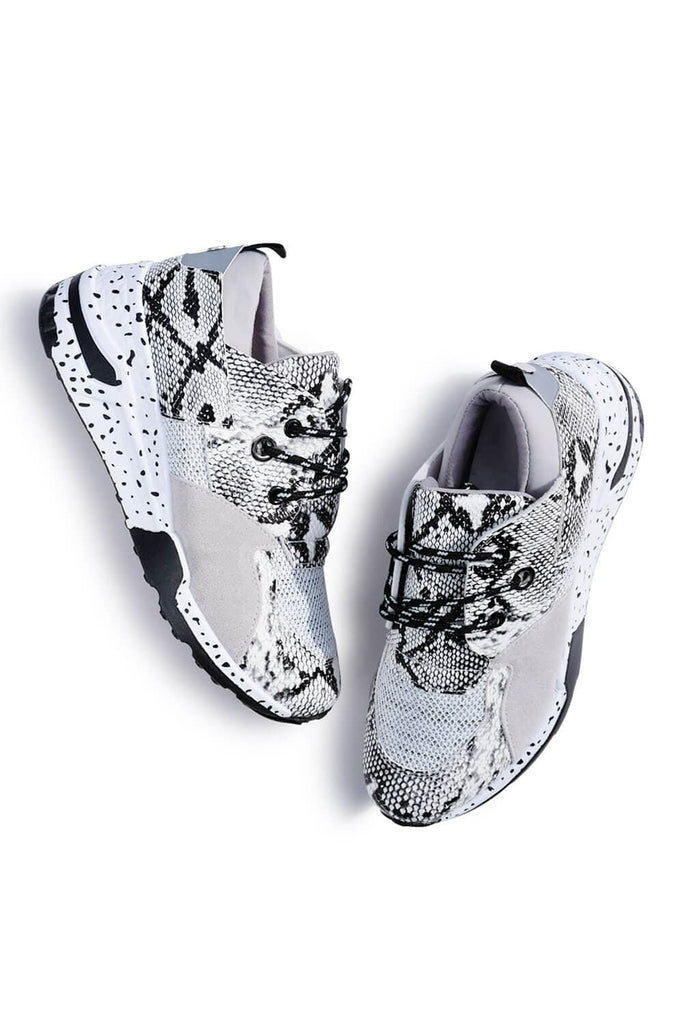 Coco Patchwork Sneakers White Snakeskin MILK MONEY