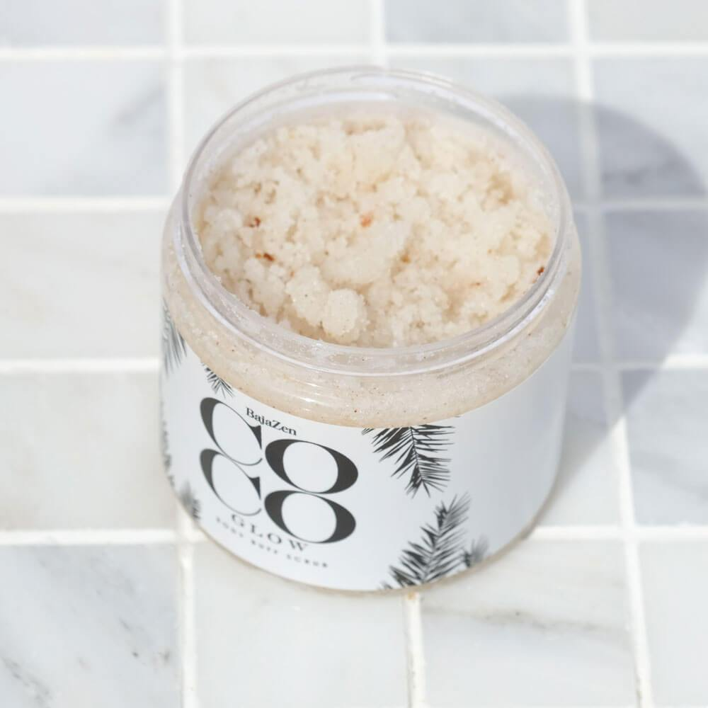 CocoGlow™ Body Buff Scrub by Baja Zen open - MILK MONEY
