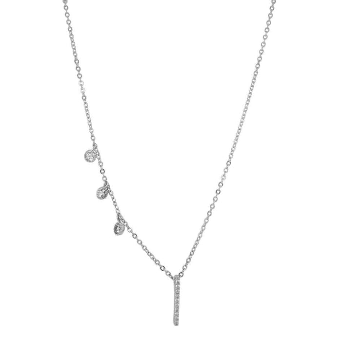 Costa Pave Charm Necklace silver MILK MONEY