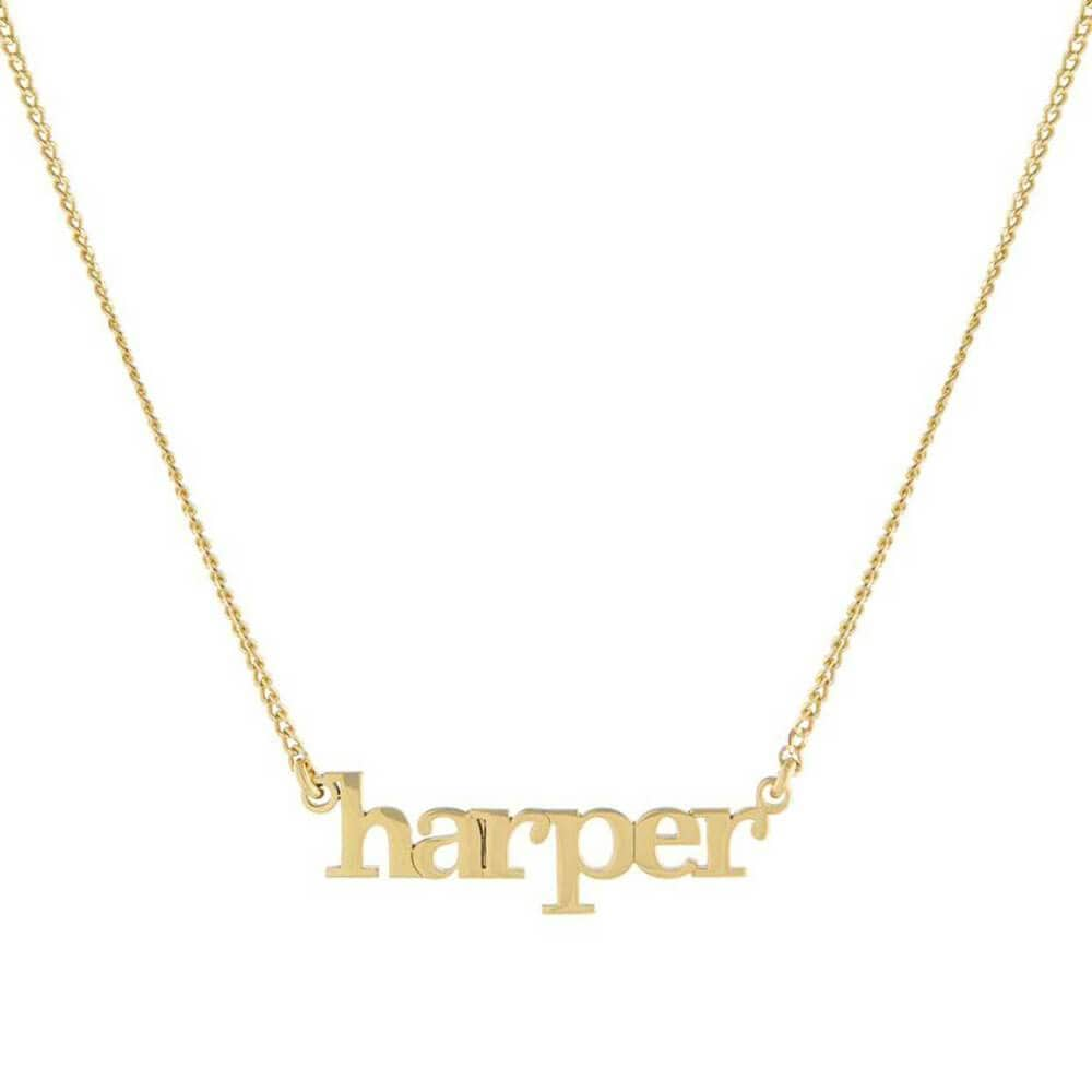 Custom Lowercase Nameplate Pendant Necklace gold - MILK MONEY