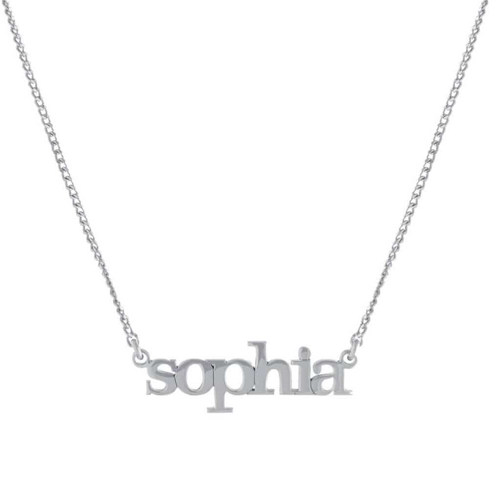 Custom Lowercase Nameplate Pendant Necklace Silver - MILK MONEY