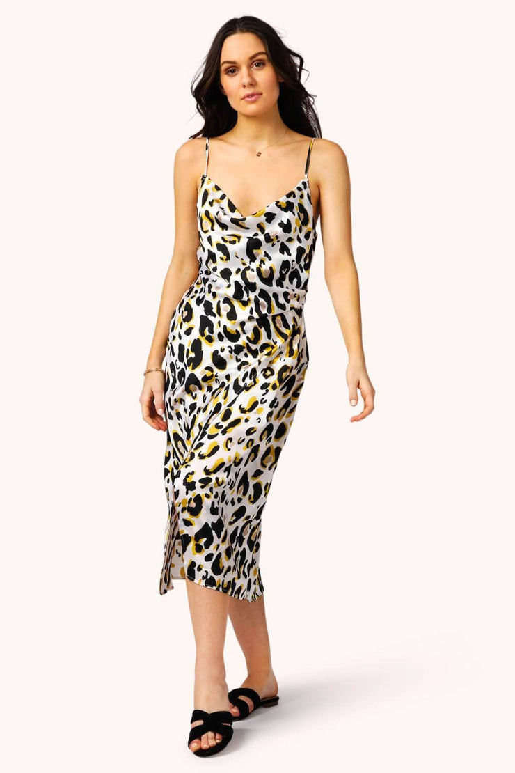 Cyra Leopard Print Wrap Dress