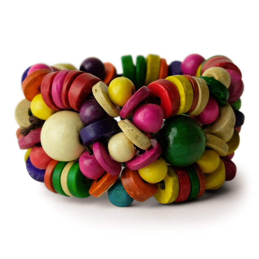 Color Burst Beaded Bracelet Stretch