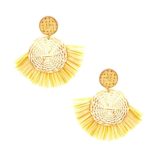 Daisy Raffia Earrings brown MILK MONEY