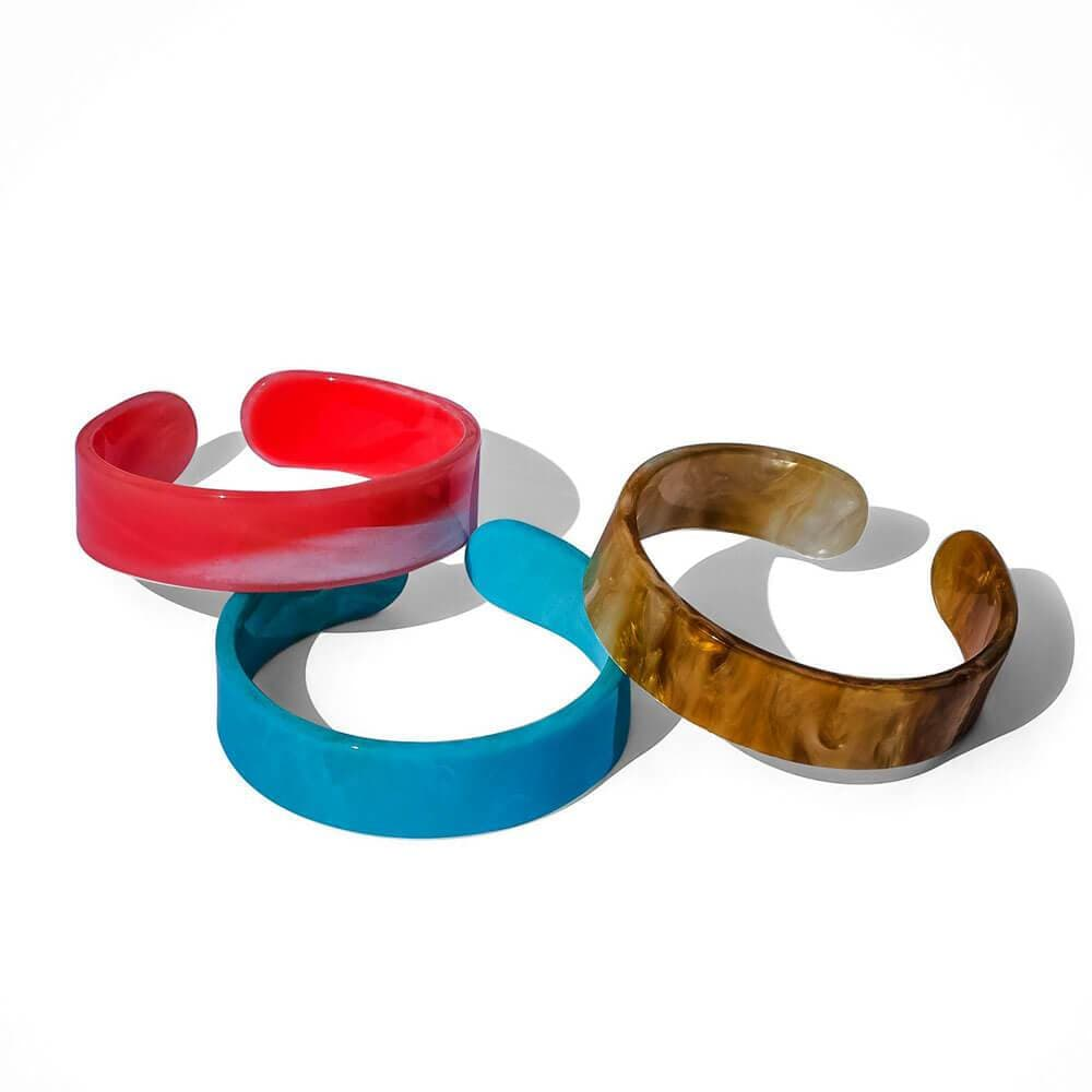 Womens Dakota Resin Stacking Cuff - MILK MONEY