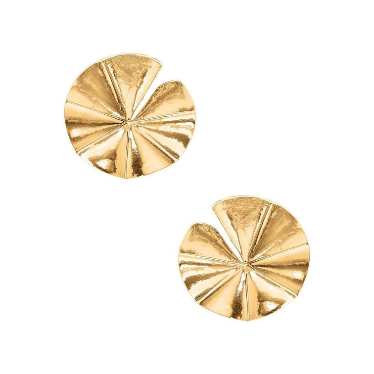 Daniela Gold Disc Earrings MILK MONEY