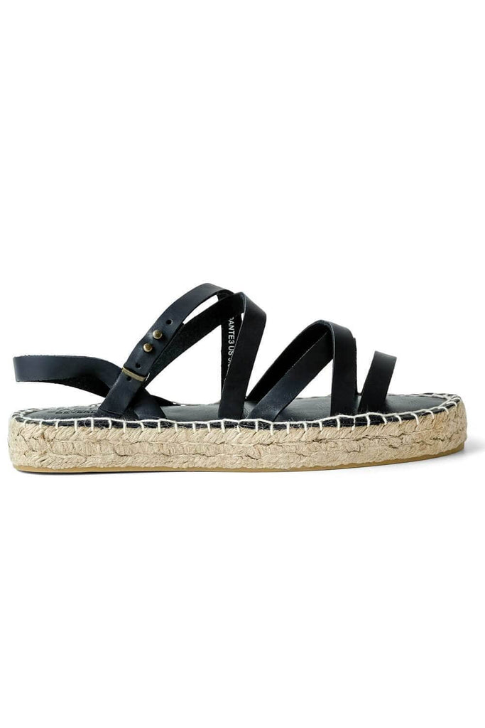 Dante Strappy Gladiator Sandal Black side - MILK MONEY