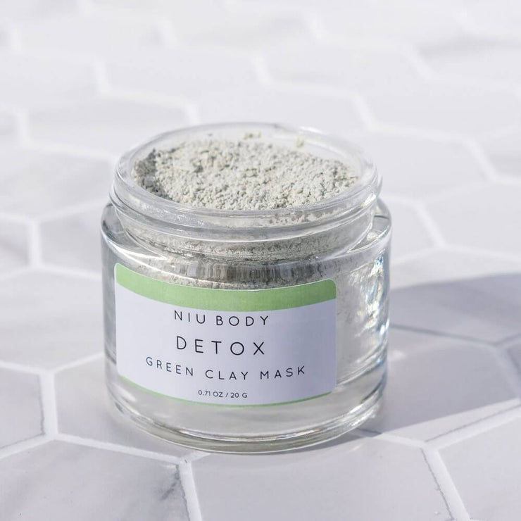 Detox Green Clay Mask by NIU Body open - MILK MONEY