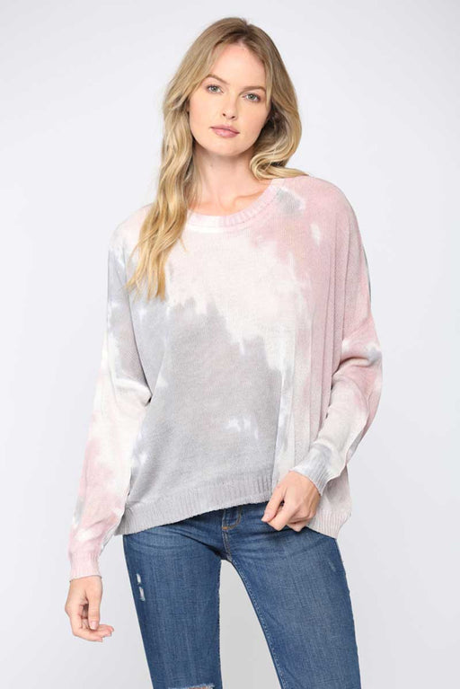 Dip Dyed Summer Sweater front mauve | MILK MONEY milkmoney.co | cute sweaters for women. cute knit sweaters. cute pullover sweaters. cute tops for women. trendy tops for women.