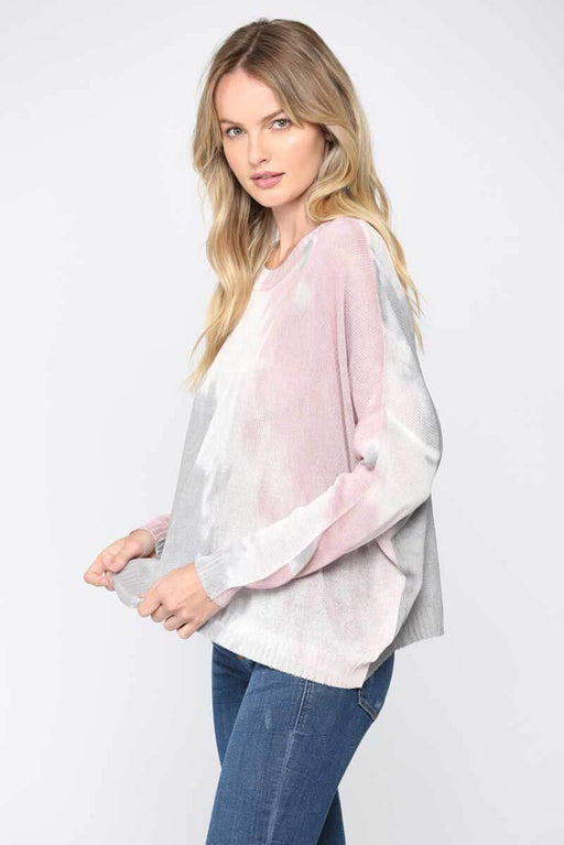 Dip Dyed Summer Sweater side mauve | MILK MONEY milkmoney.co | cute sweaters for women. cute knit sweaters. cute pullover sweaters. cute tops for women. trendy tops for women.