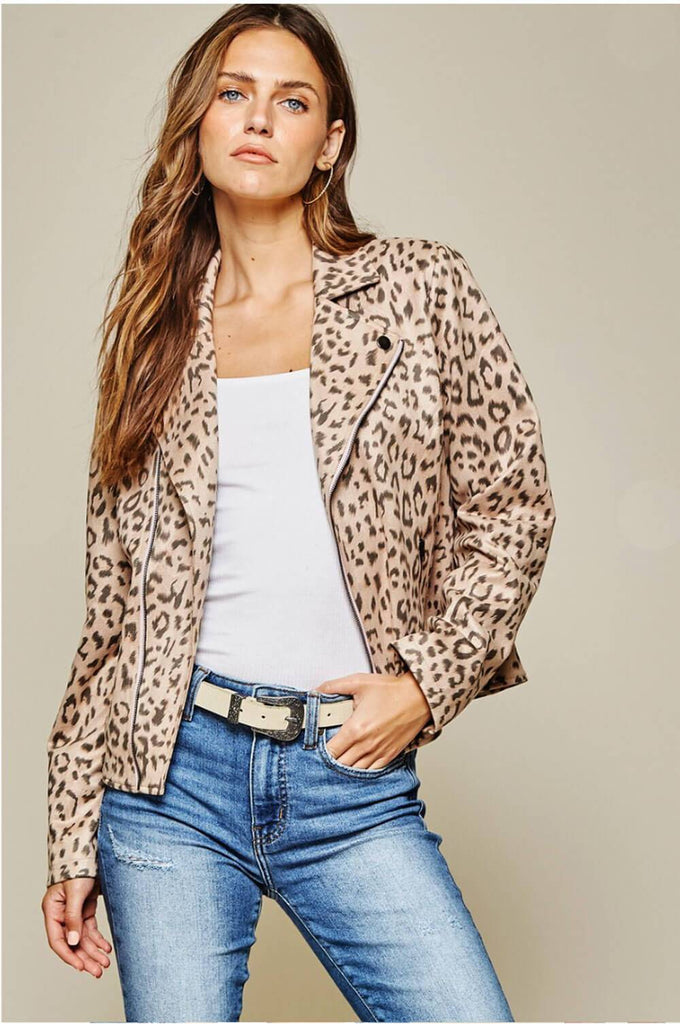 Don't F With Me Leopard Moto tan MILK MONEY