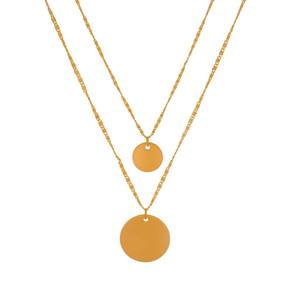 Double Charm Layering Necklace gold MILK MONEY
