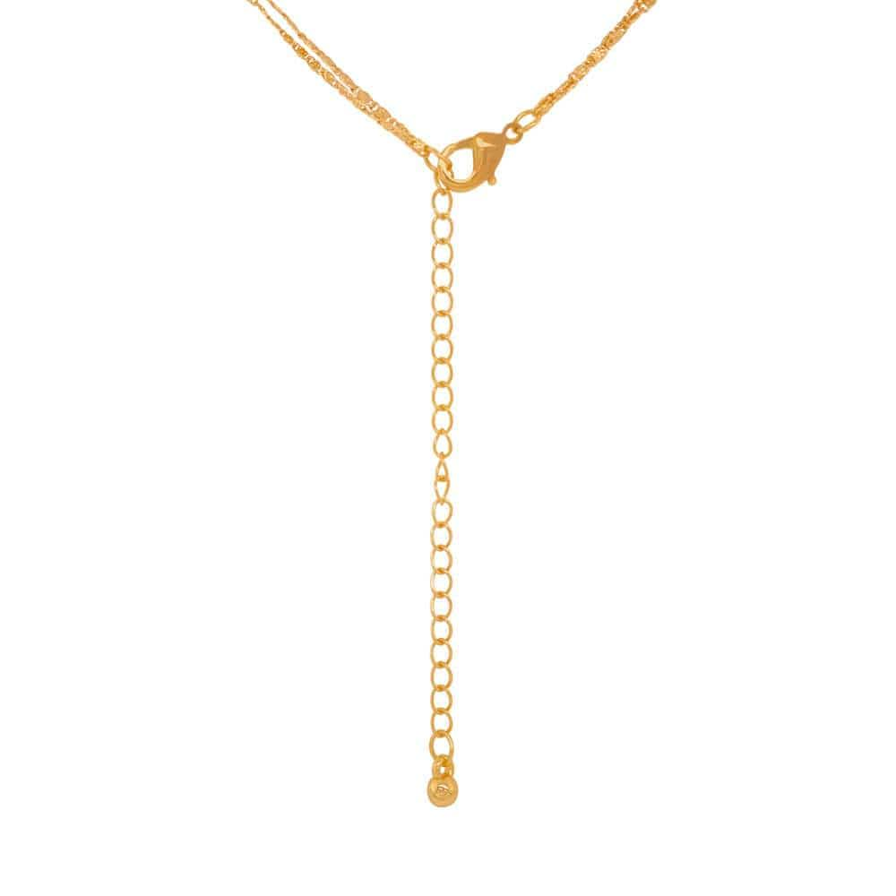 Double Charm Layering Necklace gold back MILK MONEY