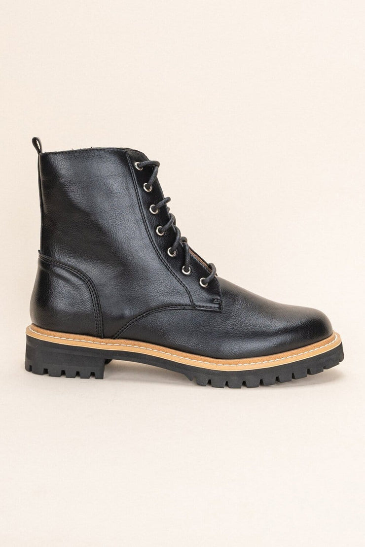 Drew Contemporary Military Boot black side MILK MONEY