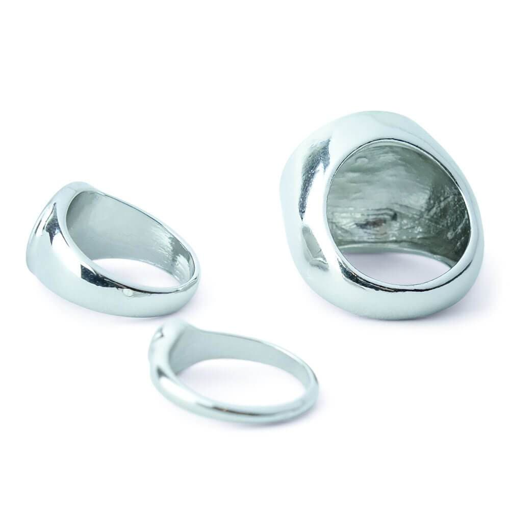 Ella Silver Signet Ring Set MILK MONEY