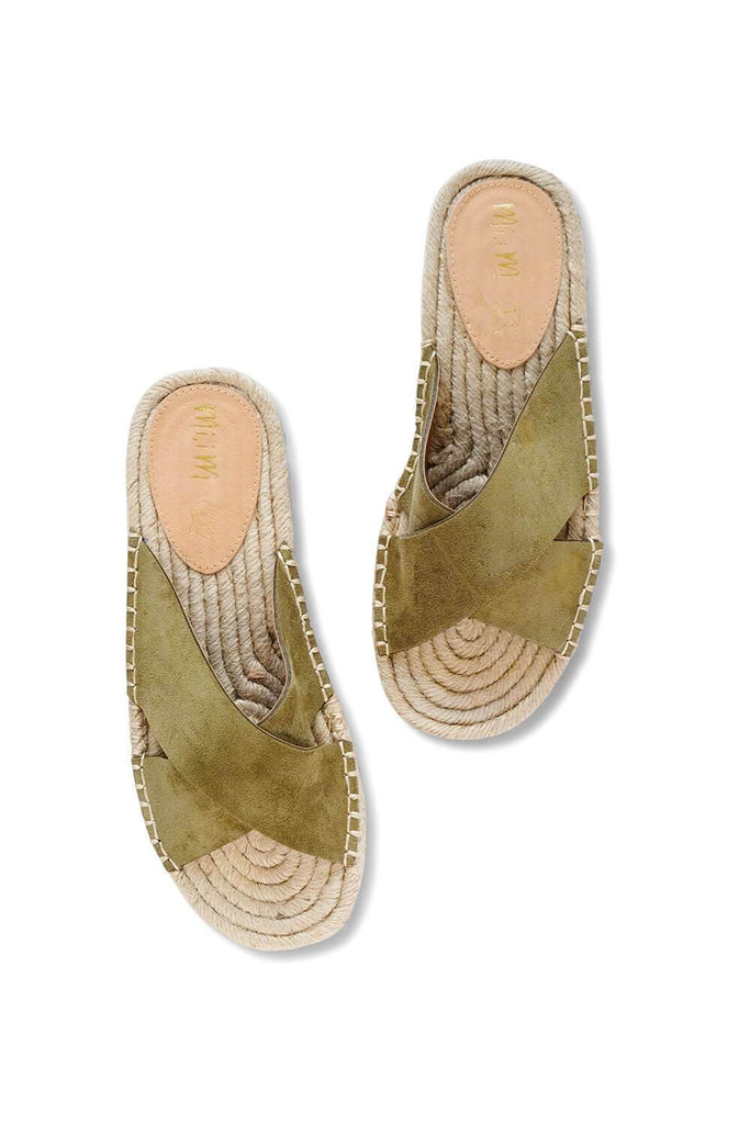 Ella Strap Woven Sole Sandal Green MILK MONEY
