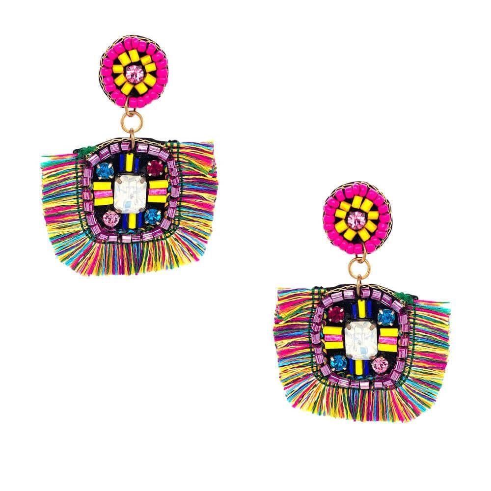 Ellie Aztec Fringe Earrings MILK MONEY