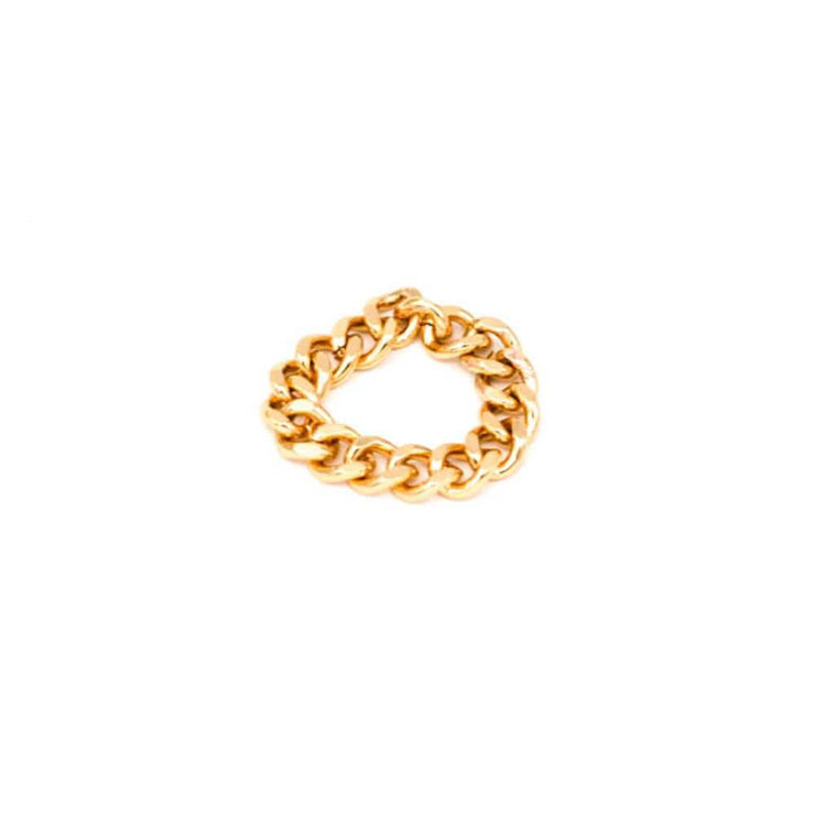 Elliot Chain Ring Gold MILK MONEY
