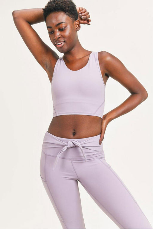 Essential Elongated Sports Bra nirvana front mILK MONEY