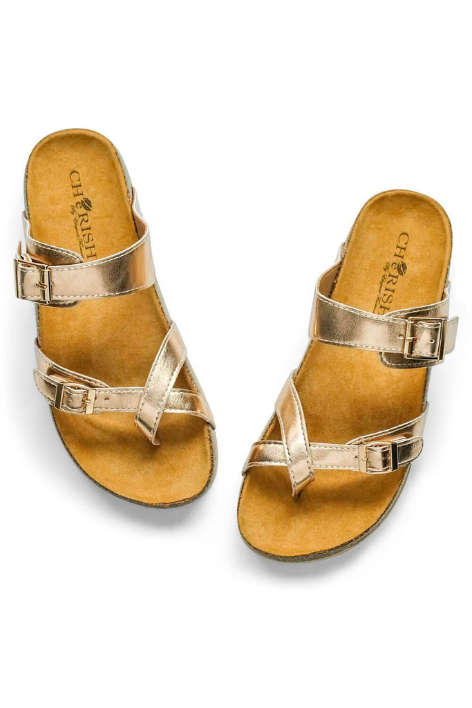 Estella Brik Sandal Rose gold - MILK MONEY