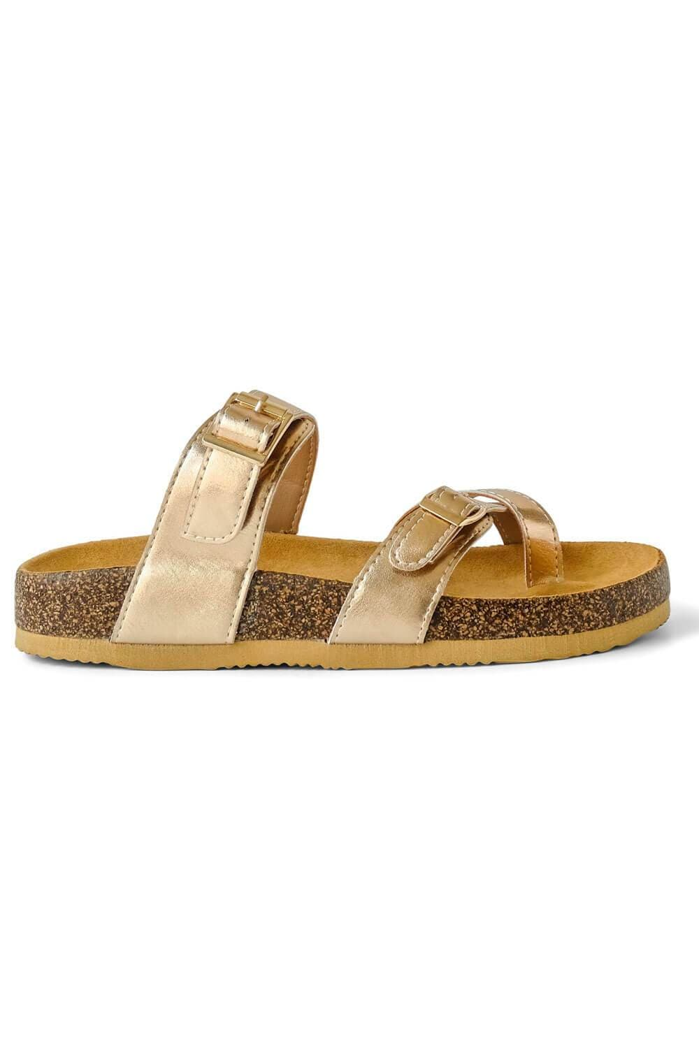 Estella Brik Sandal Rose Gold side - MILK MONEY
