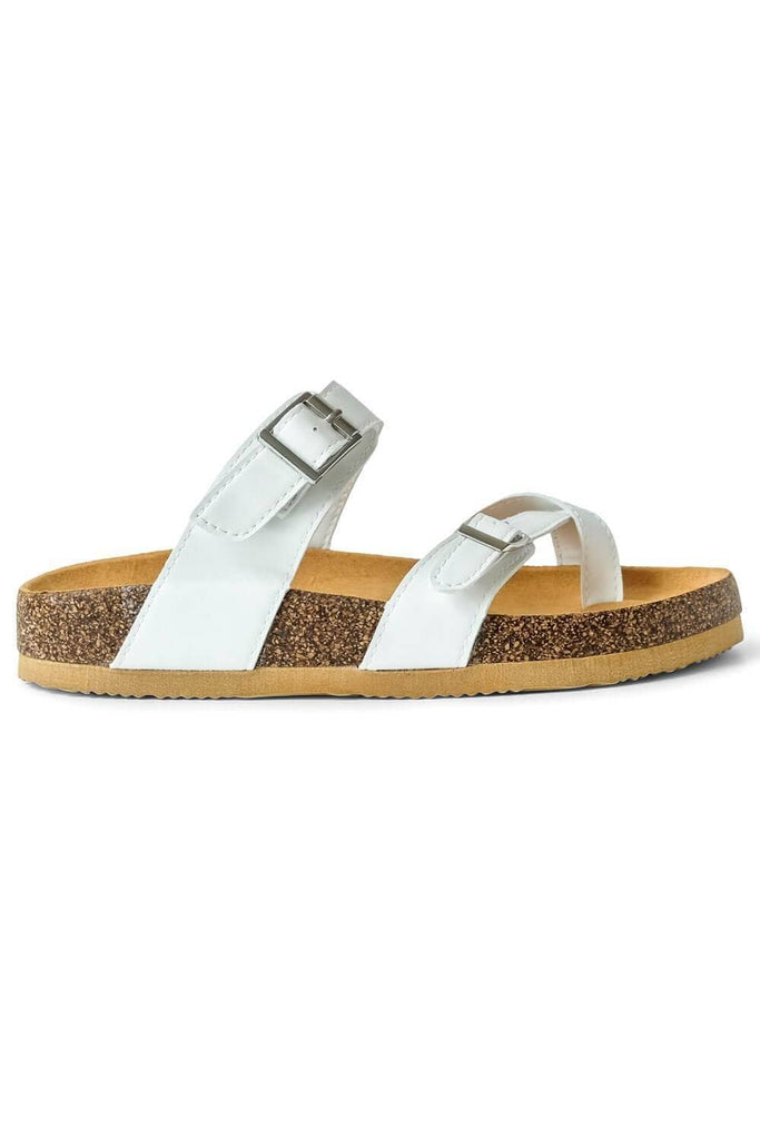 Estella Brik Sandal Side White - MILK MONEY
