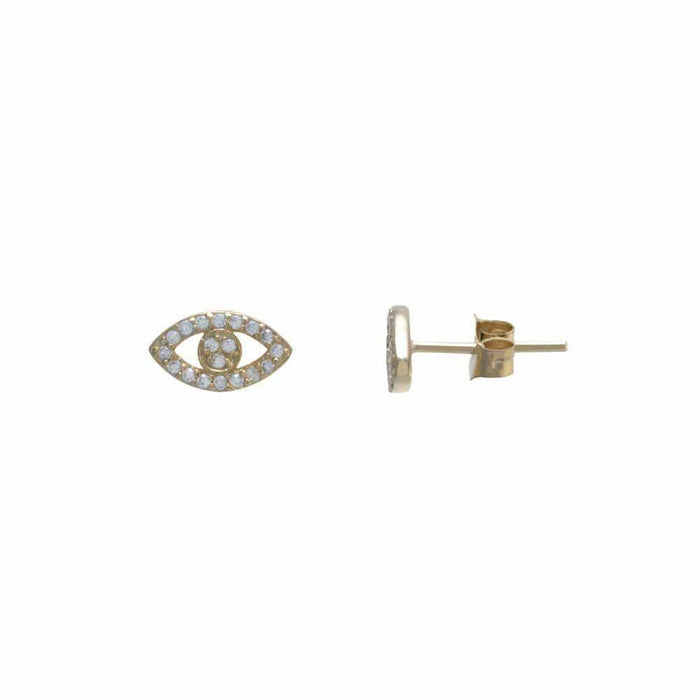 Everyday Evil Eye Pavé Stud Earring gold MILK MONEY