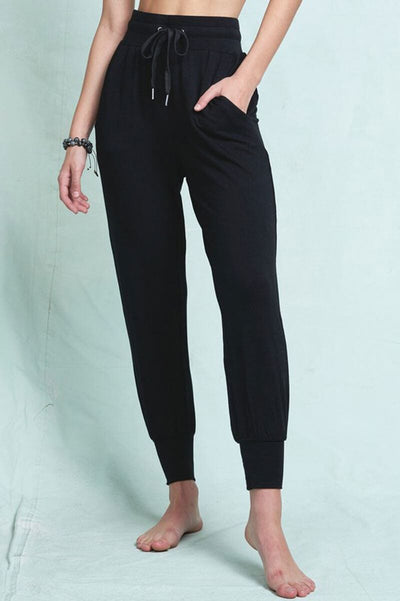 Everyday Poppy Lounger Pant black front MILK MONEY