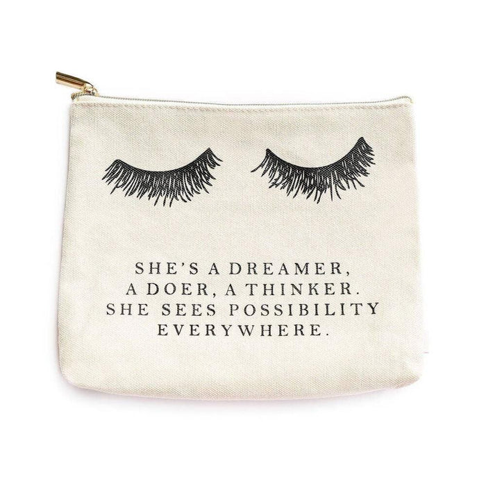 Eyelash Dreamer Makeup Bag white MILK MONEY