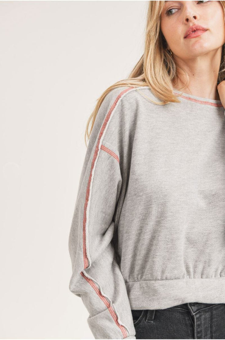 Flash Dancin' Pullover grey detail MILK MONEY