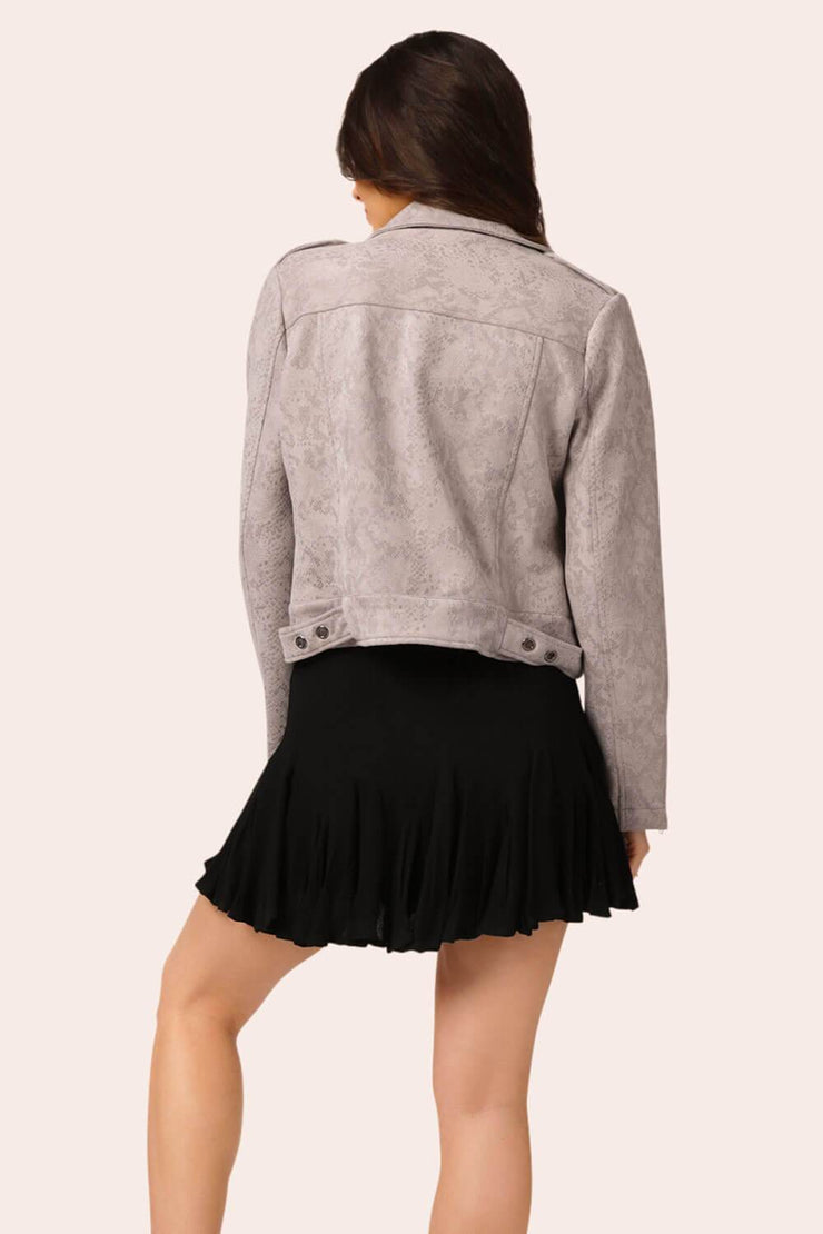 Flirty Girl Ruffle Mini Skirt Black MILK MONEY back