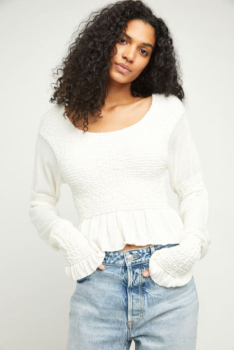 Free People Free Spirit Pullover evening cream front MILK MONEY