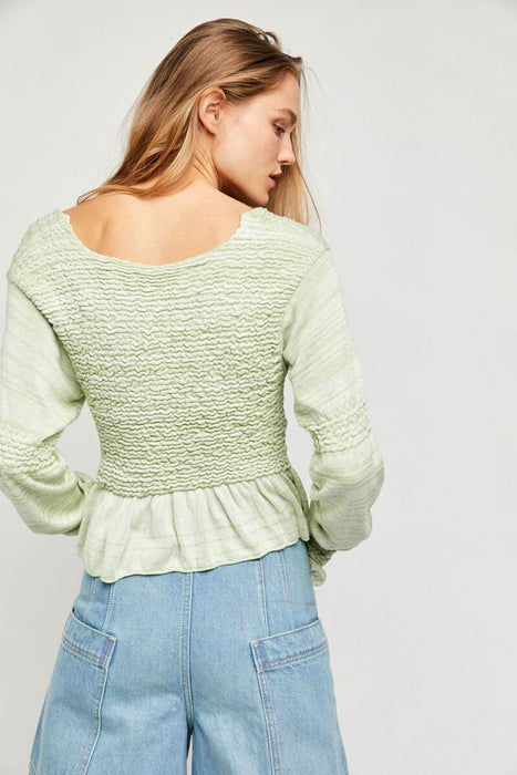 Free People Free Spirit Pullover seafoam back MILK MONEY