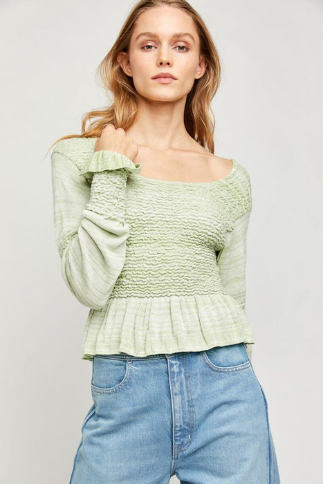 Free People Free Spirit Pullover seafoam front MILK MONEY