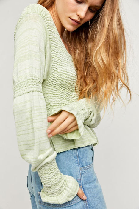 Free People Free Spirit Pullover seafoam side MILK MONEY