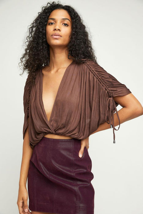 Free People Rachel Silky Top scorpio front MILK MONEY