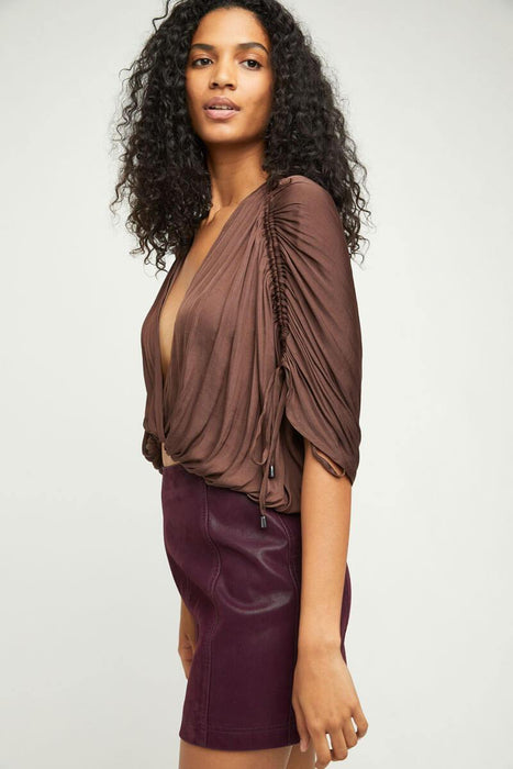 Free People Rachel Silky Top scorpio side MILK MONEY