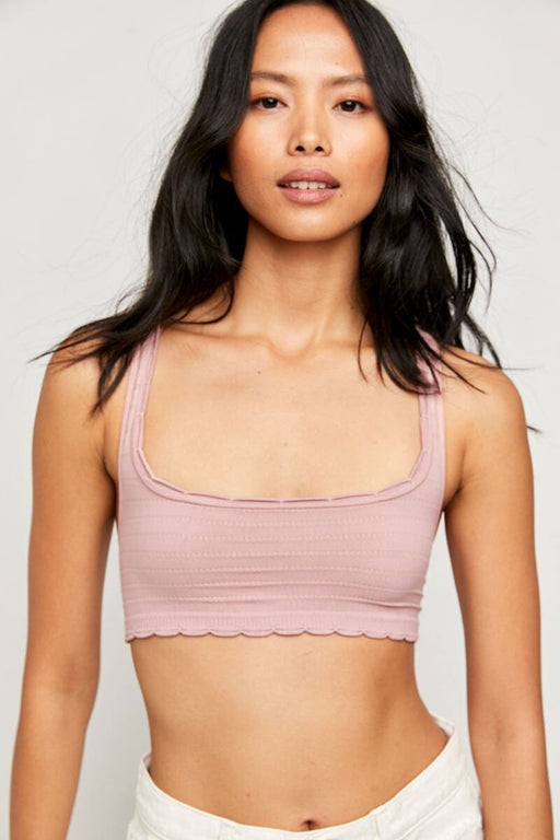 Free People Salida Seamless Bralette dusty pink front MILK MONEY