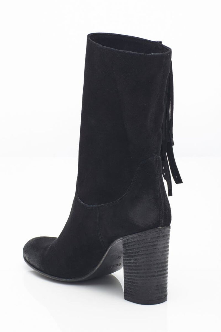 Free People Wild Rose Slouchy Boot black back MILK MONEY