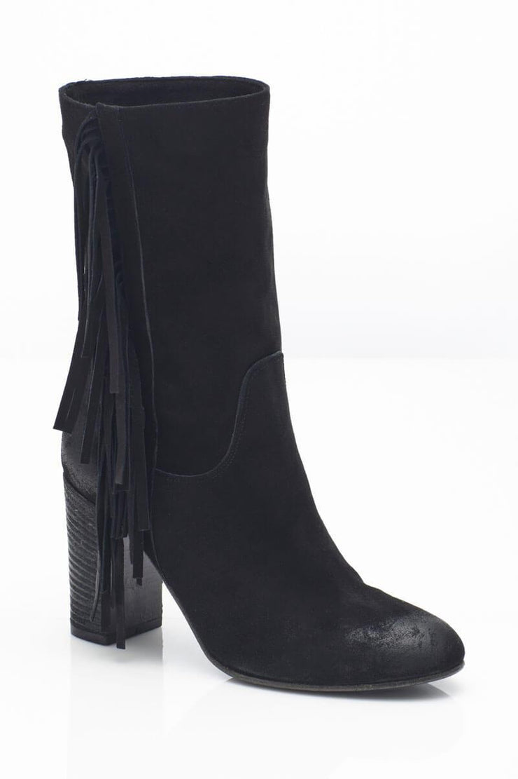 Free People Wild Rose Slouchy Boot black side MILK MONEY