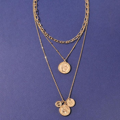 Gabby Coin Layering Necklace gold MILK MONEY